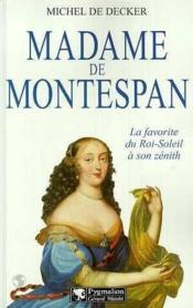 Madame De Montespan - Couverture - Format classique