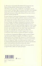 Architecture Et Perspective Chez Brunelleschi Et Alberti - 4ème de couverture - Format classique