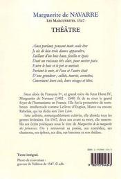 Les marguerites 1547 ; théâtre - 4ème de couverture - Format classique