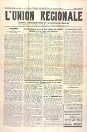 Union Regionale (L') N°1122 du 29/02/1940 - Couverture - Format classique
