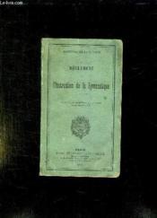 Reglement Sur L Instruction De La Gymnastique. - Couverture - Format classique