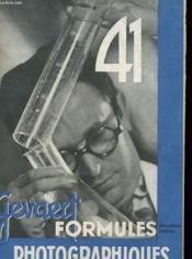 Formules Photographiques Gevaert - Couverture - Format classique