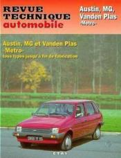 Vente livre :  REVUE TECHNIQUE AUTOMOBILE N.428.4 ; Austin MG Vanden Plas Metro et Metro turbo  - Collectif