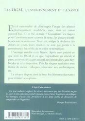 Les Ogm L'Environnement Et La Sante No42 - 4ème de couverture - Format classique