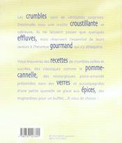 Crumble version sale, sucre - 4ème de couverture - Format classique