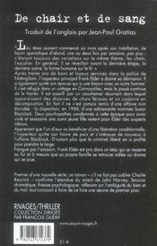 De chair et de sang - 4ème de couverture - Format classique