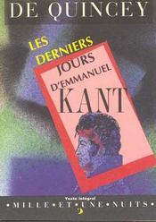 Les Derniers Jours D'Emmanuel Kant - Intérieur - Format classique