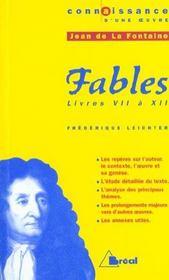 Les Fables - La Fontaine - Intérieur - Format classique