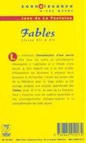 Les Fables - La Fontaine - 4ème de couverture - Format classique