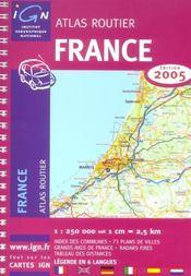 *France Atlas Routier 2005* (édition 2005) - Intérieur - Format classique