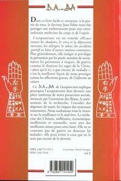 Acupuncture - 4ème de couverture - Format classique
