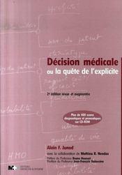 Décision médicale ou la quête de l'explicite (2e édition) - Intérieur - Format classique