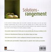 Solutions de rangement - 4ème de couverture - Format classique