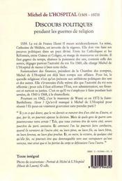 Gouverner la haine ; discours politiques pendant les guerres de religions (1560-1568) - 4ème de couverture - Format classique