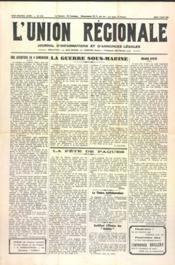 Union Regionale (L') N°1123 du 07/03/1940 - Couverture - Format classique