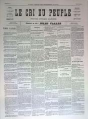 Cri Du Peuple (Le) N°70 du 10/05/1871 - Couverture - Format classique