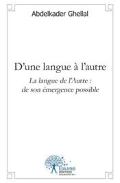 D?Une Langue A L?Autre - Couverture - Format classique