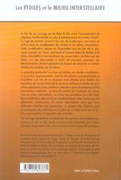 Les Etoiles Et Le Milieu Interstellaire Introduction A L'Astrophysique Cours Exercices Et Pb Resolus - 4ème de couverture - Format classique
