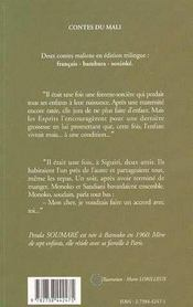 Femme Sorciere (La) Et Autre Conte Trilingue - 4ème de couverture - Format classique