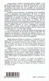 Bresil, L'Utopialand De Blaise Cendrars - 4ème de couverture - Format classique