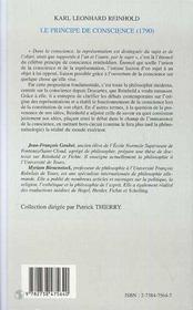 Le Principe De Conscience (1790) - 4ème de couverture - Format classique