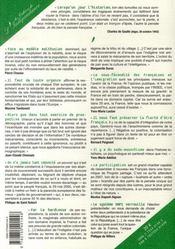 Les cahiers de l'indépendance t.2 ; existe-t-il encore un peuple français ? - 4ème de couverture - Format classique