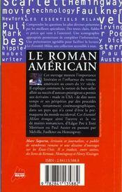 Le roman americain - 4ème de couverture - Format classique