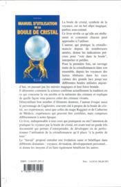Manuel D'Utilisation De La Boule De Cristal - Consulter A Distance - 4ème de couverture - Format classique
