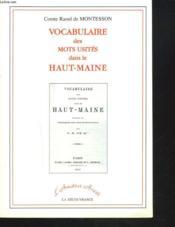Vocabulaire Des Mots Usites Haut Maine - Couverture - Format classique