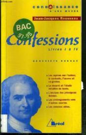 Confessions - Rousseau - Couverture - Format classique