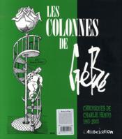 Les colonnes de Gébé (1993-2003) - 4ème de couverture - Format classique