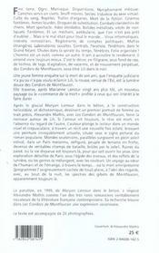 Les Condors De Montfaucon - 4ème de couverture - Format classique