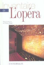 Inventaire de l'opera - Intérieur - Format classique