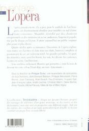 Inventaire de l'opera - 4ème de couverture - Format classique