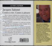 Contes A Rire, Contes A Pleurer - Couverture - Format classique