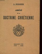 Abrege De La Doctrine Chretienne - Cours Moyen - Couverture - Format classique