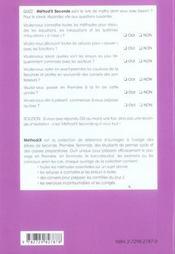 Method'S ; mathématiques ; seconde ; 250 méthodes, 100 exercices corrigés - 4ème de couverture - Format classique