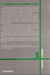 Pauperisation du logement social ; le cas de la Grande-Bretagne et de la France - 4ème de couverture - Format classique