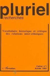 Pluriel-Recherches - Couverture - Format classique