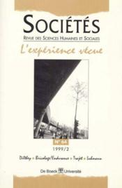 L'Experience Vecue - Couverture - Format classique