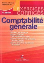 Exercices Corriges De Comptabilite Generale, 5eme Edition - Intérieur - Format classique