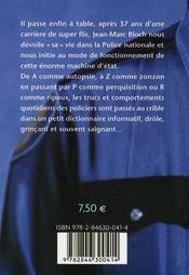 Dictionnaire insolite ; la police de A à Z - 4ème de couverture - Format classique