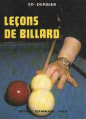 Lecons De Billard - Couverture - Format classique