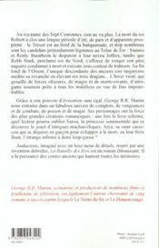 Le trône de fer T.3 ; la bataille des rois - 4ème de couverture - Format classique