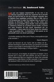 36 boulevard yalta - 4ème de couverture - Format classique