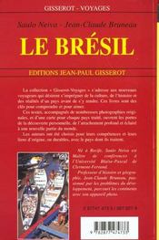 Le Bresil - 4ème de couverture - Format classique