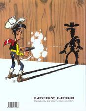 Lucky Luke t.37 ; canyon apache - 4ème de couverture - Format classique