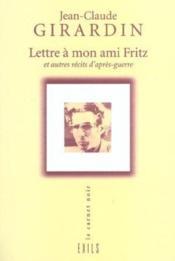 Lettre A Mon Ami Fritz - Couverture - Format classique