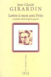 Lettre A Mon Ami Fritz - Intérieur - Format classique