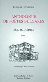 Anthologie de poetes bulgares tome 1 - Couverture - Format classique